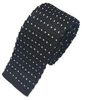High Quality Men's Fashion Polka Dot Heart Knit Knitted Tie Slim Skinny Woven